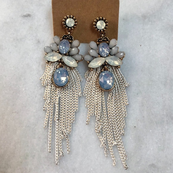 Jewelry - Formal Blue Bronze Chandelier Earrings
